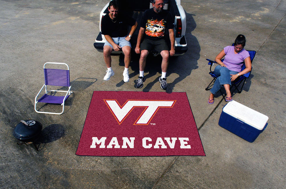 Virginia Tech Hokies MAN CAVE TAILGATER 60 x 72 Rug