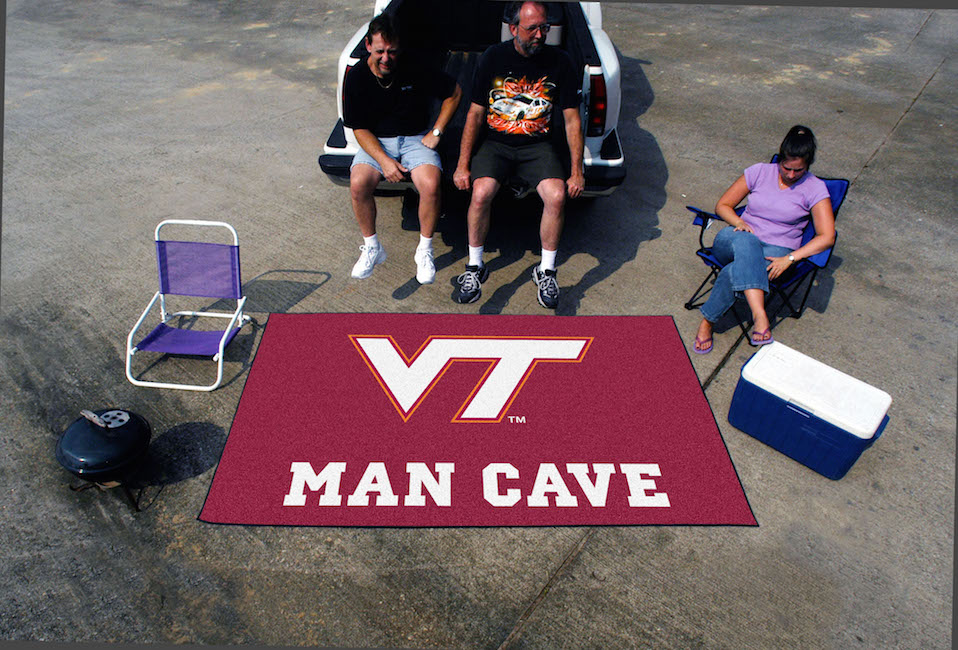Virginia Tech Hokies UTILI-MAT 60 x 96 MAN CAVE Rug