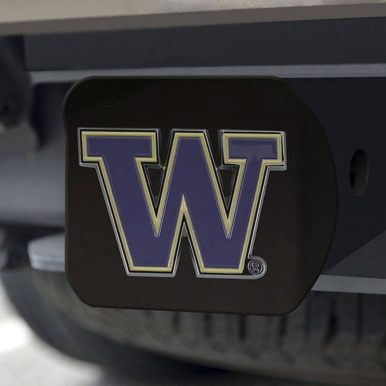 Washington Huskies Black and Color Trailer Hitch Cover