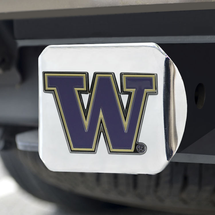 Washington Huskies Color Chrome Trailer Hitch Cover