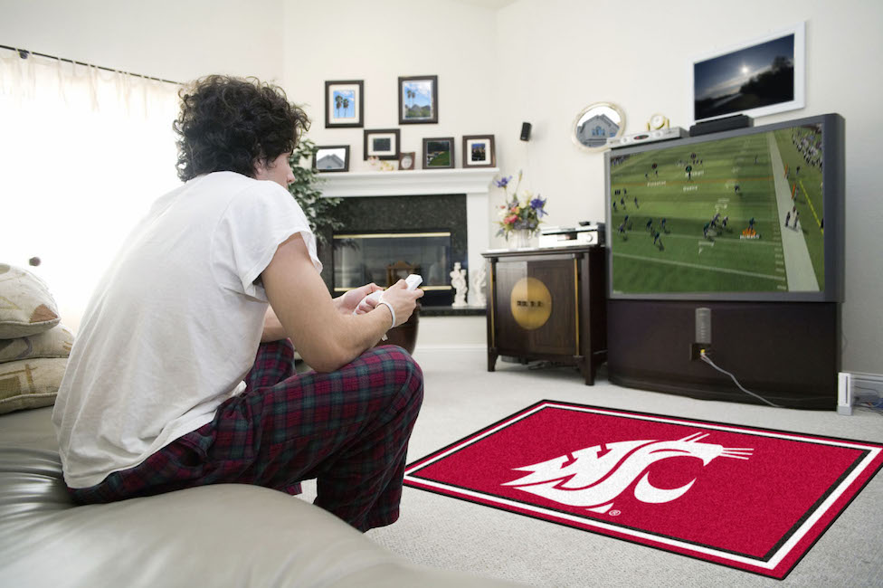 Washington State Cougars 4x6 Area Rug