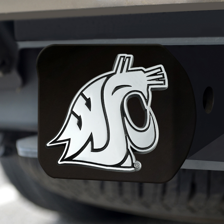 Washington State Cougars BLACK Trailer Hitch Cover