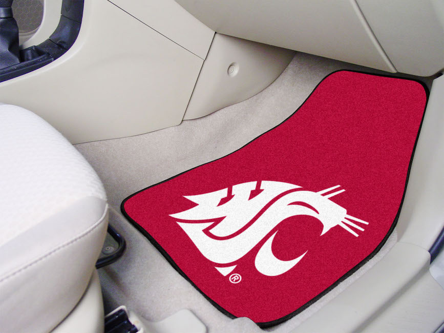 Washington State Cougars Car Floor Mats 18 x 27 Carpeted-Pair