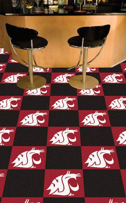 Washington State Cougars Carpet Tiles 18x18 in.