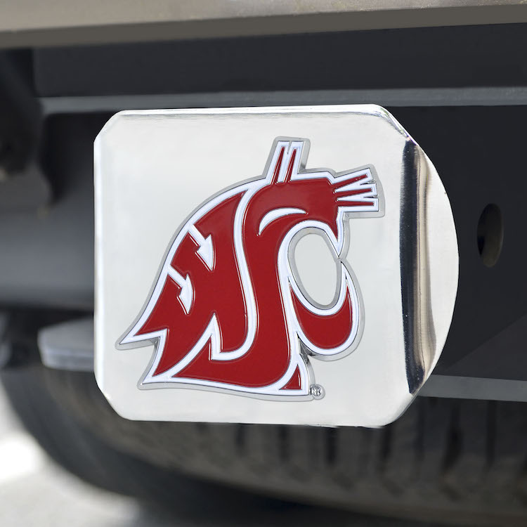 Washington State Cougars Color Chrome Trailer Hitch Cover