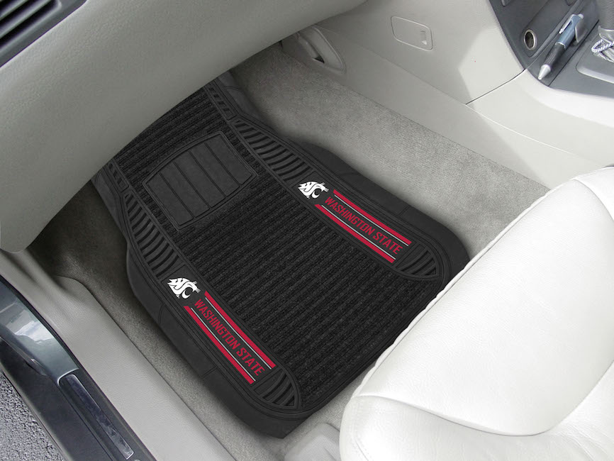 Washington State Cougars Deluxe 20 x 27 Car Floor Mats