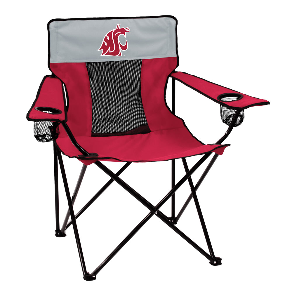 Washington State Cougars ELITE logo folding camp style chair