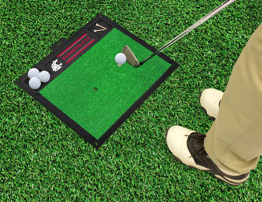Washington State Cougars Golf Hitting Mat