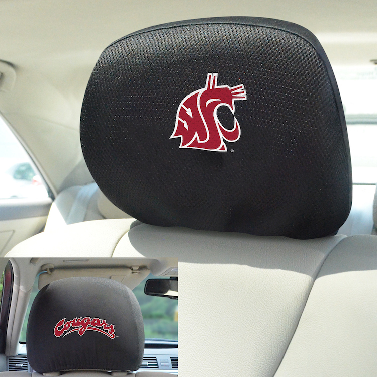 Washington State Cougars Head Rest Covers