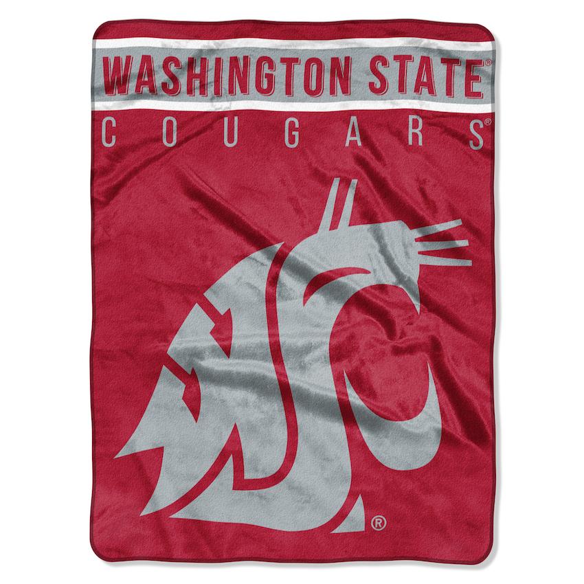 Washington State Cougars Large Plush Fleece Overtime 60 X