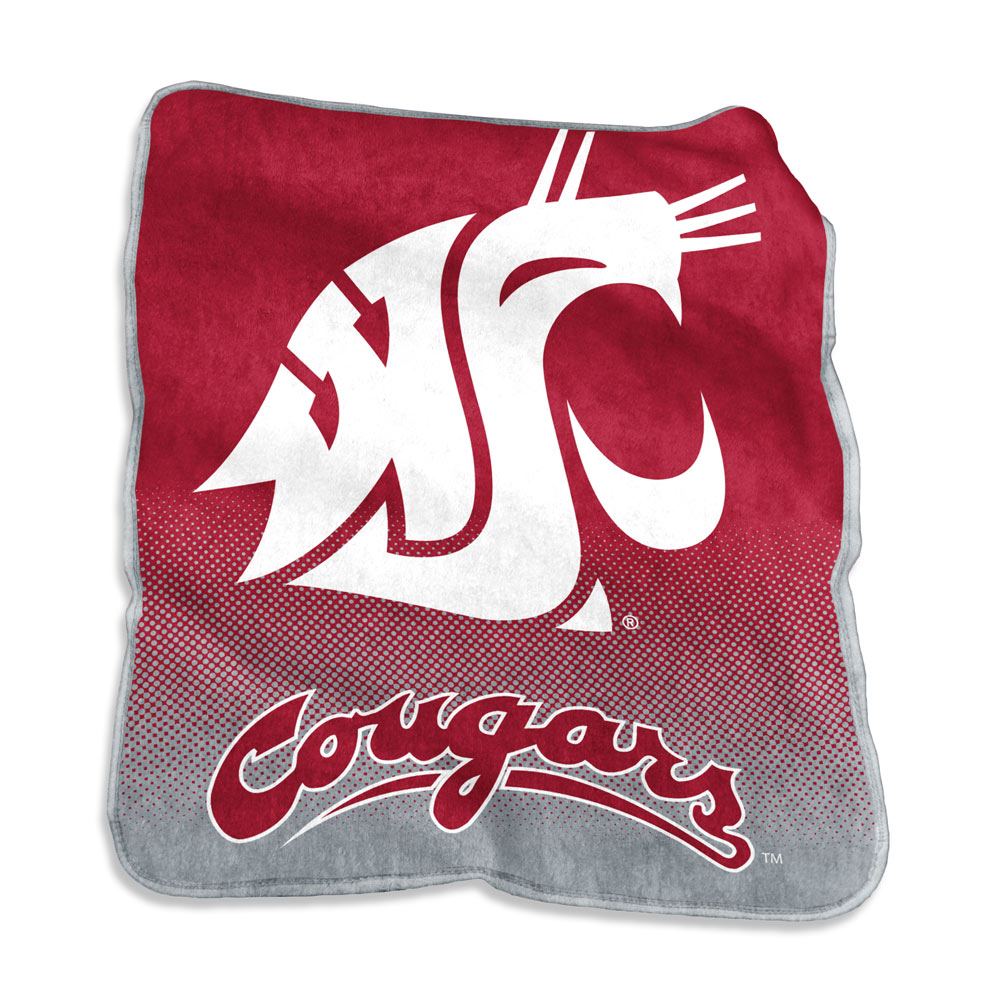 Washington State Cougars Logo Raschel Blanket