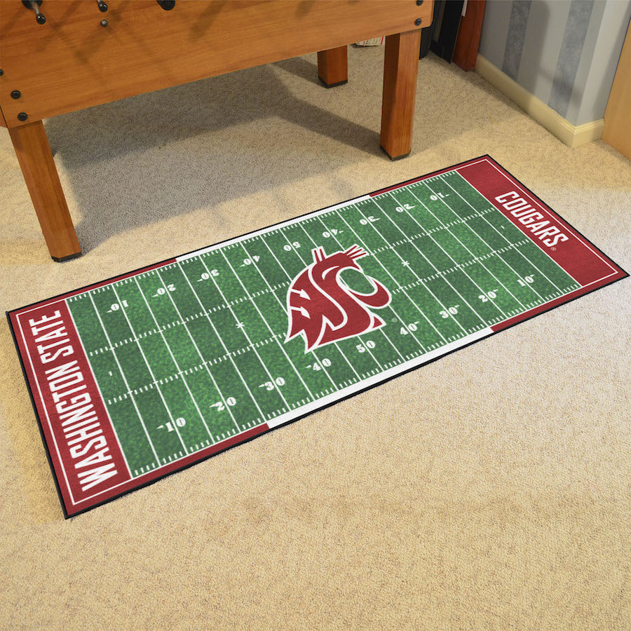Washington State Cougars 30 x 72 Football Field Carpet Runner