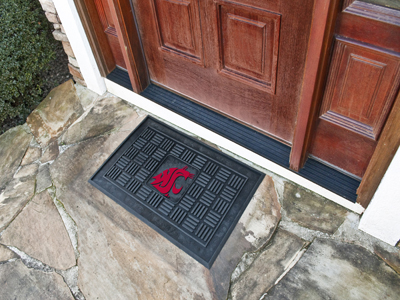 Washington State Cougars MEDALLION Vinyl Door Mat