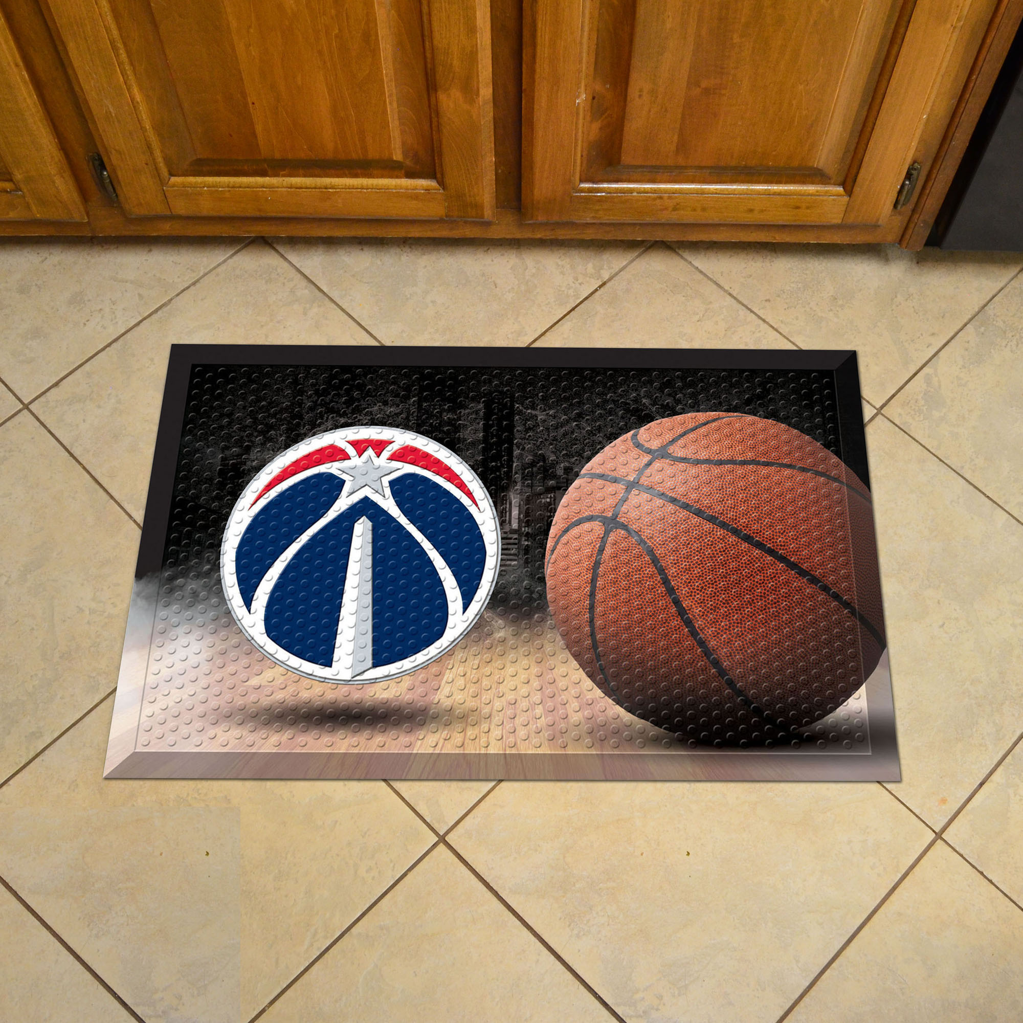 Washington Wizards Ball Style SCRAPER Door Mat