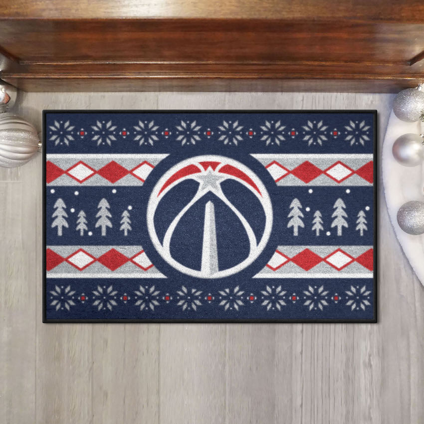 Washington Wizards HOLIDAY SWEATER 20 x 30 STARTER Floor Mat