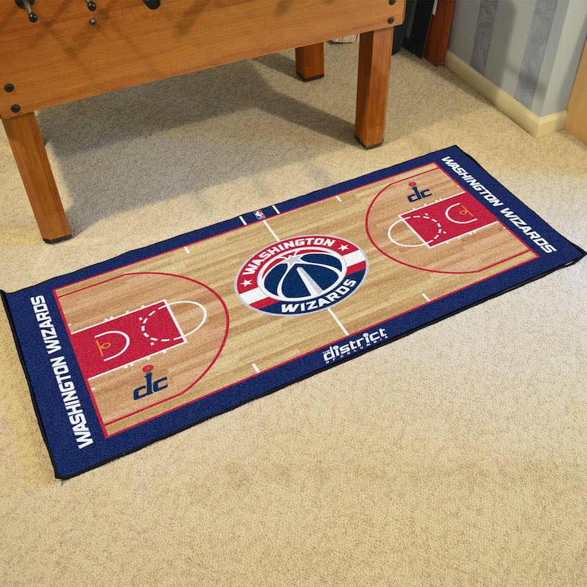 Washington Wizards 30 x 54 LARGE Basketball Court Carpet Runner