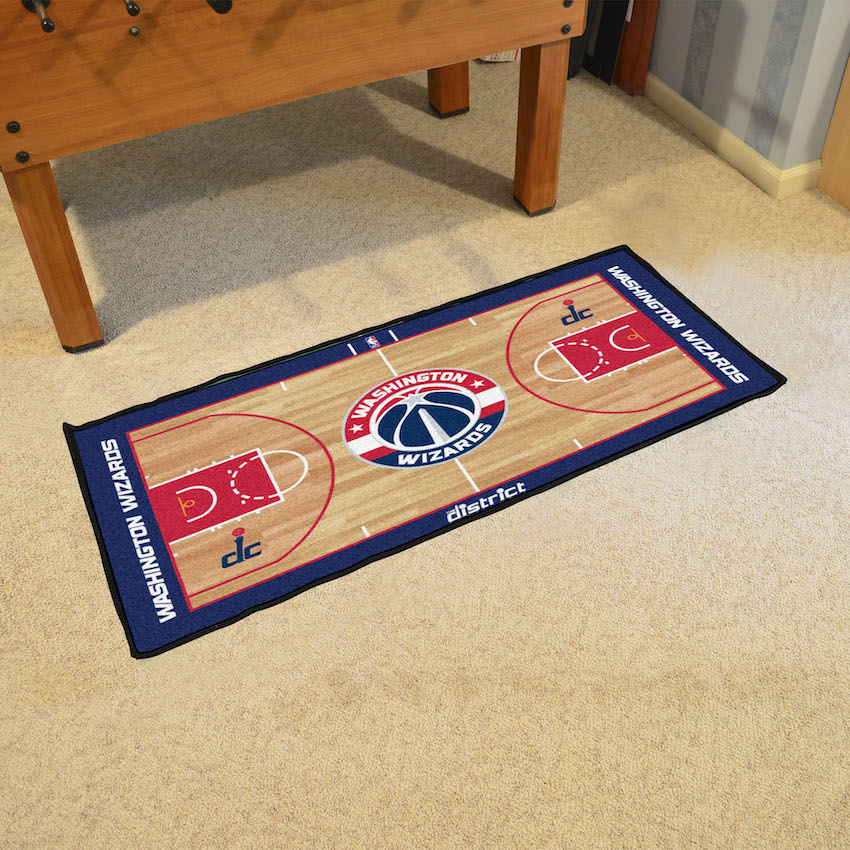 Washington Wizards 24 x 44 Basketball Court Carpet Runner