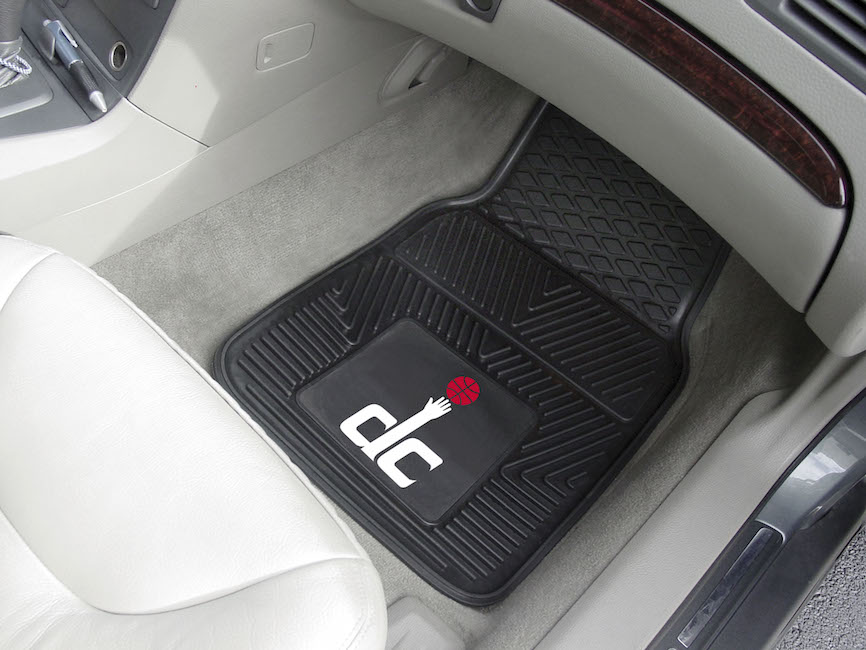 Washington Wizards Car Floor Mats 18 x 27 Heavy Duty Vinyl Pair