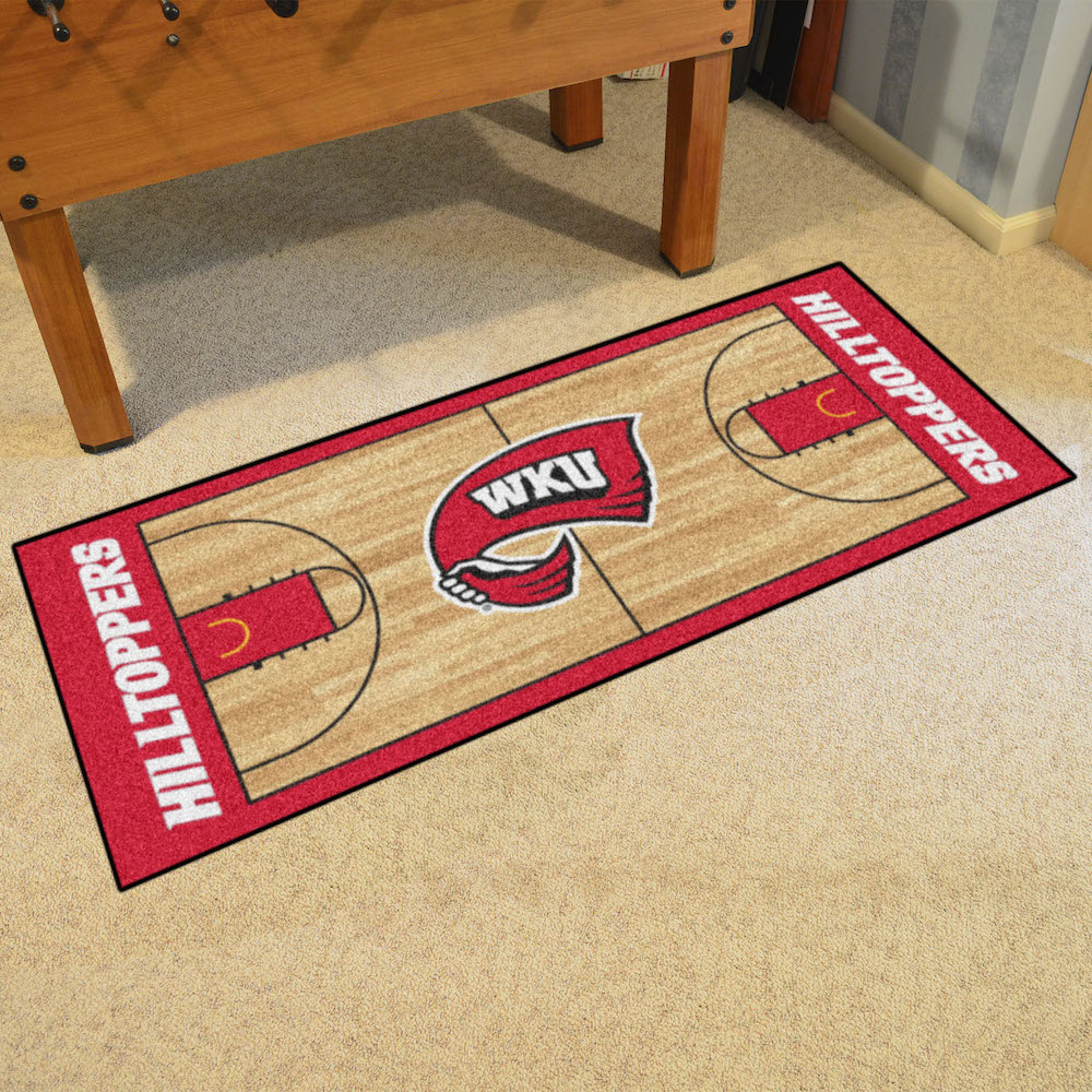 Western Kentucky Hilltoppers 30 x 72 Basketball Court Carpet Runner