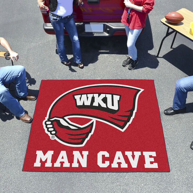 Western Kentucky Hilltoppers MAN CAVE TAILGATER 60 x 72 Rug