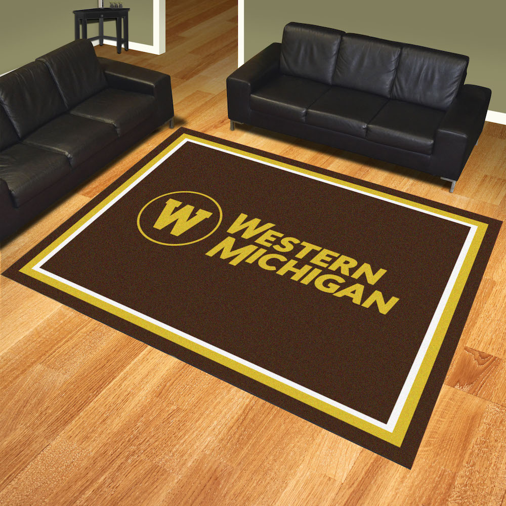 Western Michigan Broncos Ultra Plush 8x10 Area Rug