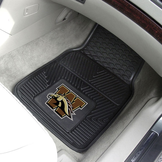 Western Michigan Broncos Car Floor Mats 18 x 27 Heavy Duty Vinyl Pair