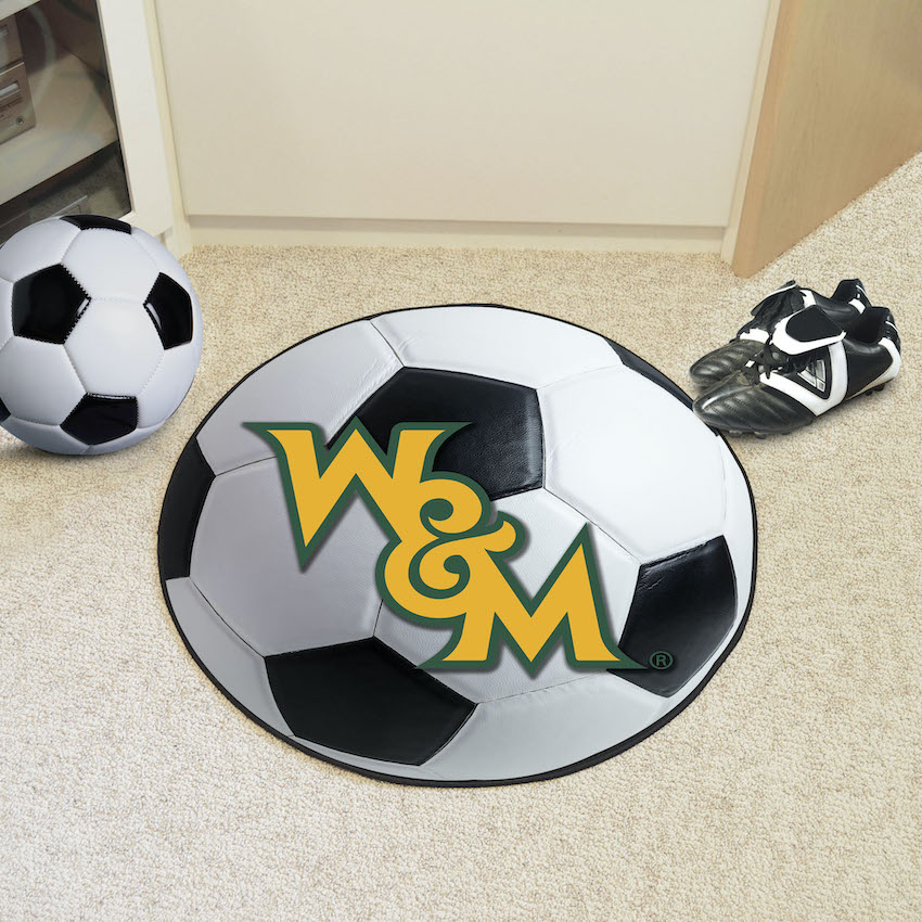 William and Mary Tribe SOCCER BALL Mat