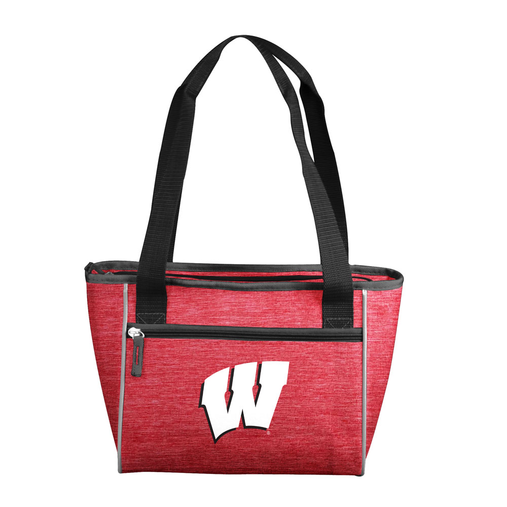 Wisconsin Badgers Crosshatch 16 Can Cooler Tote