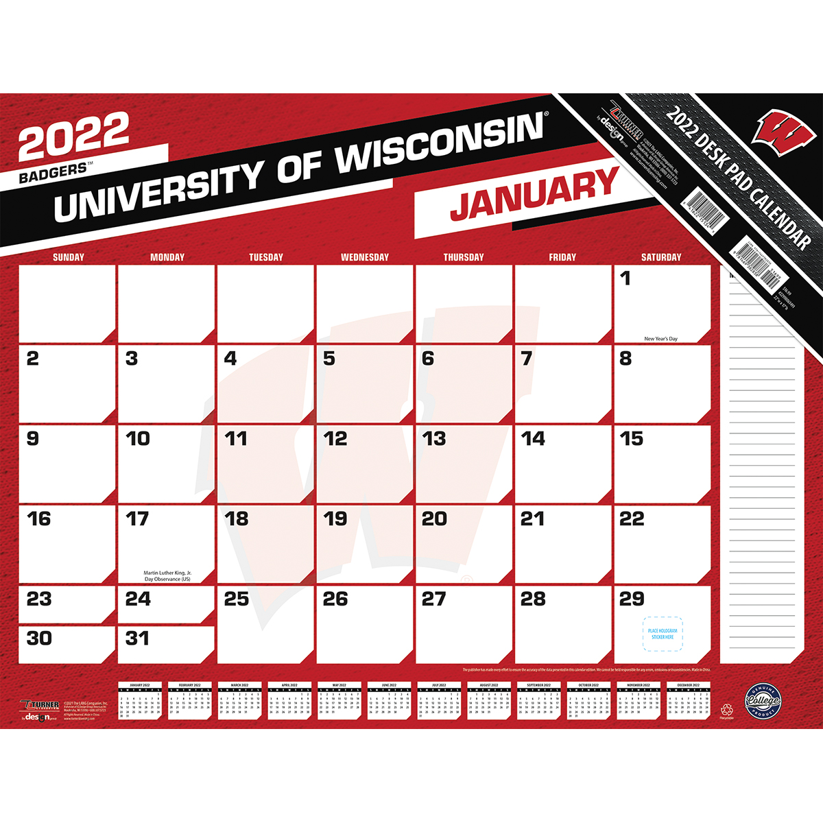 Town Planner Calendar Green Bay Wi : Wisconsin badgers ncaa desk calendar buy at