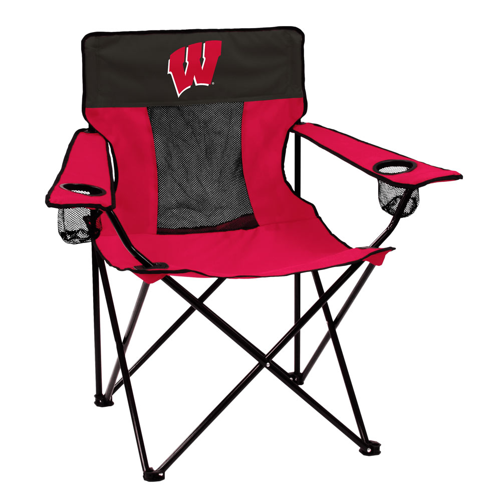 Wisconsin Badgers ELITE logo folding camp style chair