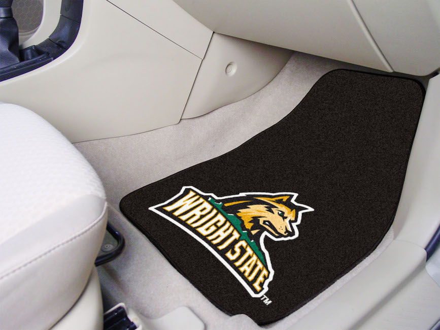 Wright State Raiders Car Floor Mats 18 x 27 Carpeted-Pair
