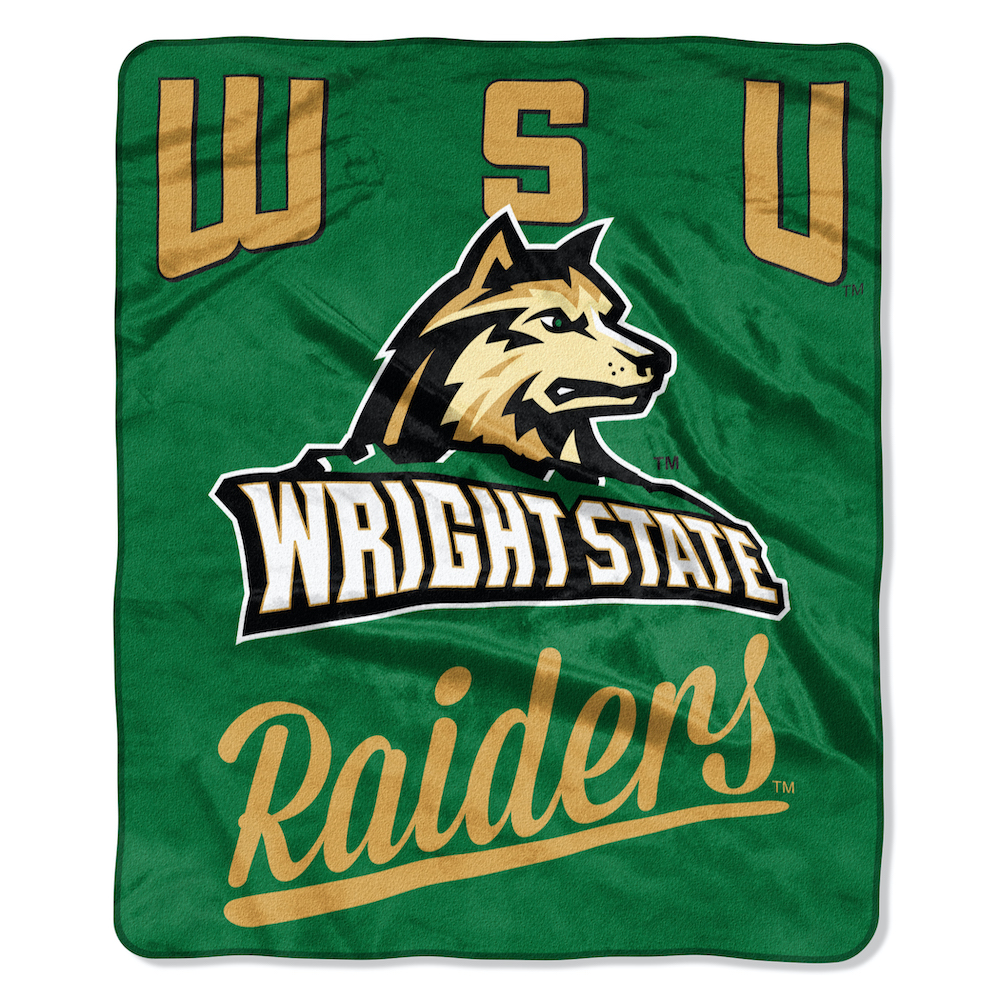 Wright State Raiders Plush Fleece Raschel Blanket 50 x 60