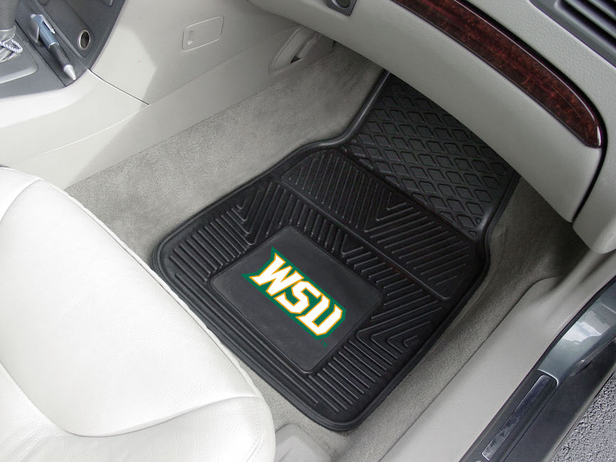 Wright State Raiders Car Floor Mats 18 x 27 Heavy Duty Vinyl Pair