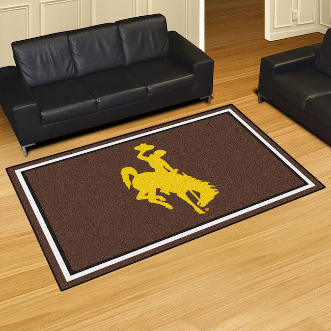 Wyoming Cowboys 5x8 Area Rug