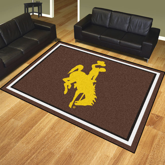 Wyoming Cowboys Ultra Plush 8x10 Area Rug