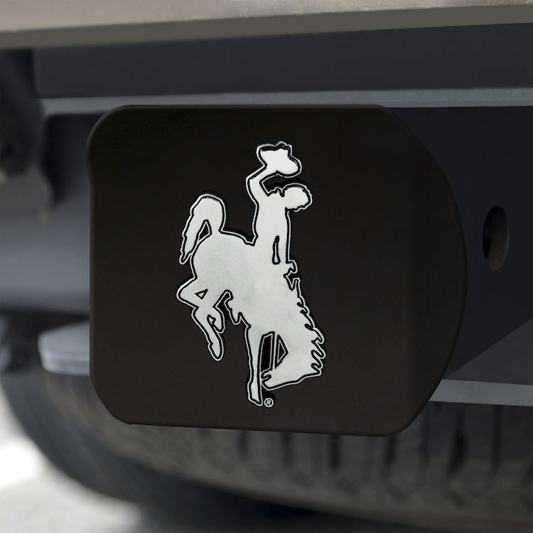 Wyoming Cowboys BLACK Trailer Hitch Cover