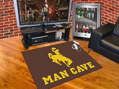 Wyoming Cowboys ALL STAR 34 x 45 MAN CAVE Floor Mat