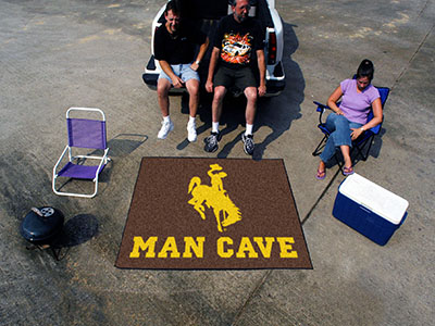 Wyoming Cowboys MAN CAVE TAILGATER 60 x 72 Rug