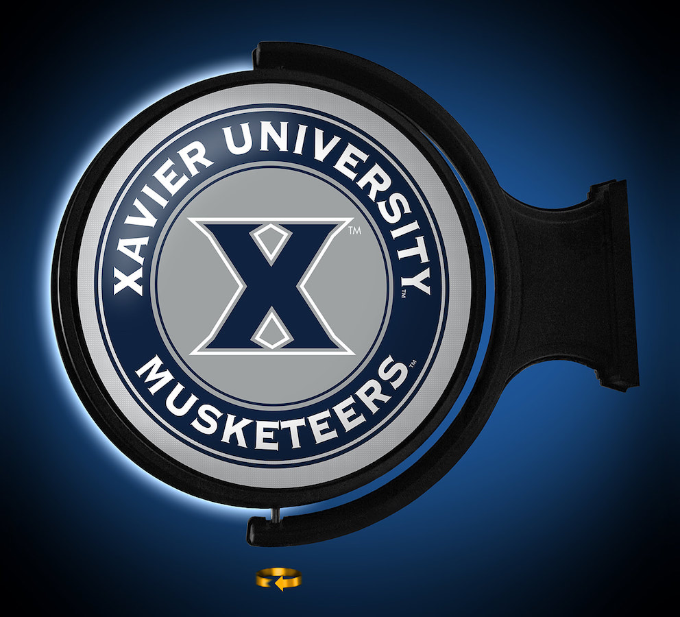 Xavier Musketeers LED Rotating Wall Sign ~ PRIMARY