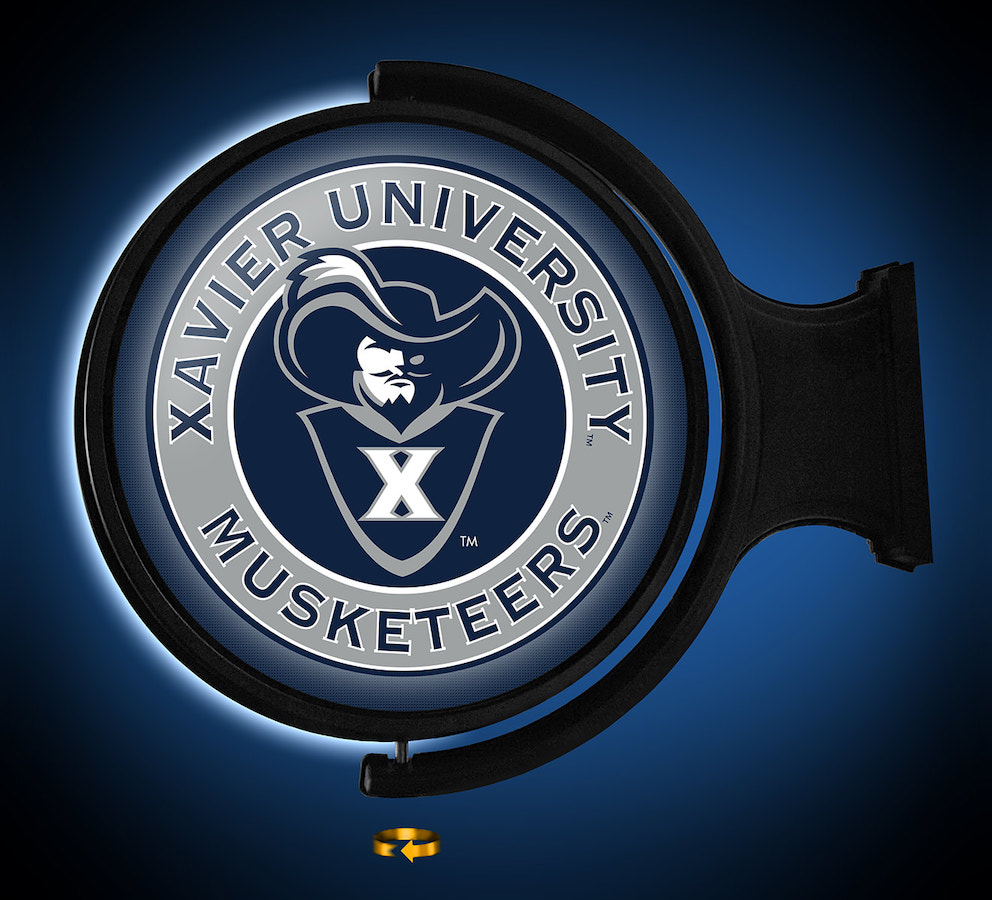 Xavier Musketeers LED Rotating Wall Sign ~ SECONDARY