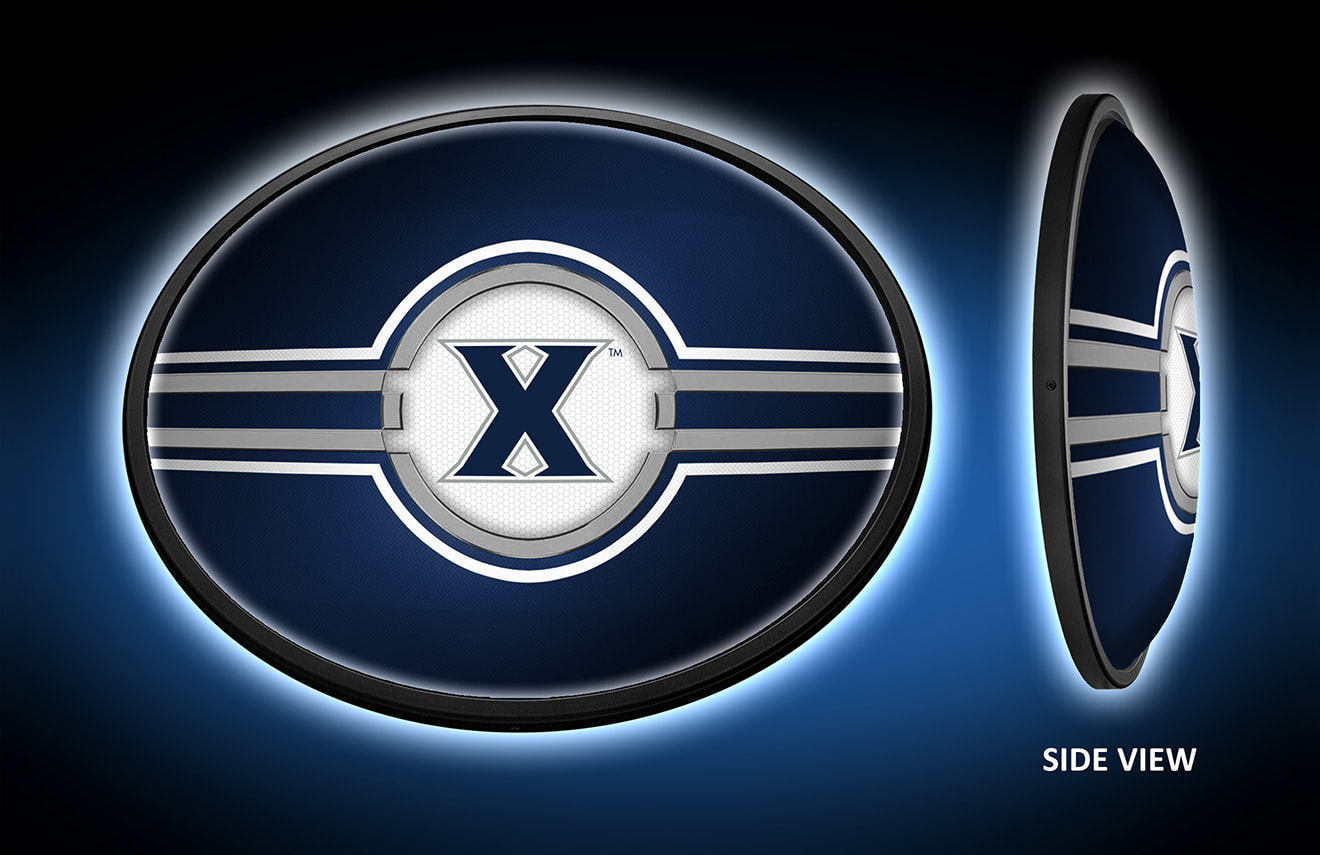 Xavier Musketeers Slimline LED Wall Sign ~ OVAL