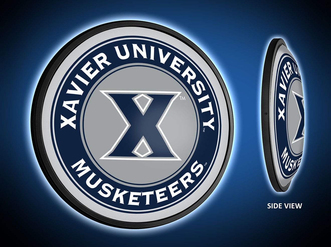 Xavier Musketeers Slimline LED Wall Sign ~ PRIMARY