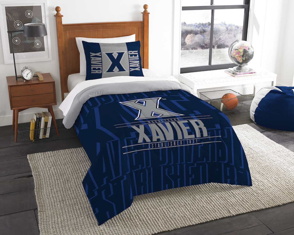 Xavier Musketeers Twin Comforter Set with Sham