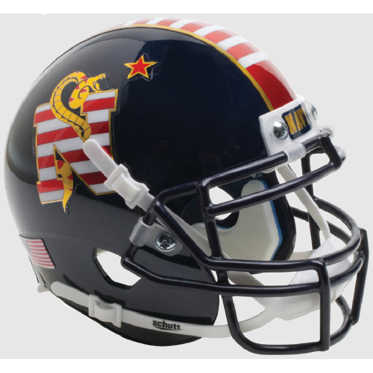 Navy Midshipmen NCAA Mini SPEED Helmet by Riddell - Dont Tread